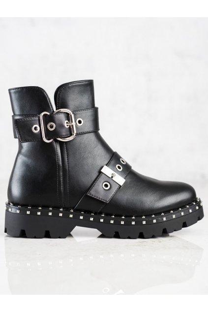 Čierne dámske topánky Janessa kod KL-723B