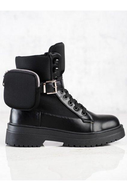 Čierne dámske topánky Wellspring kod A9876B