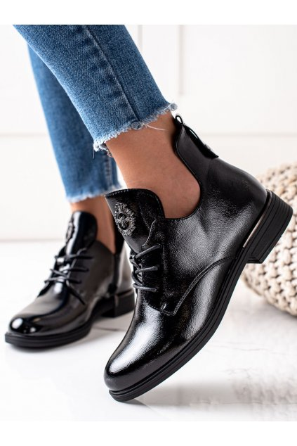Čierne dámske topánky Sergio leone kod PB262B