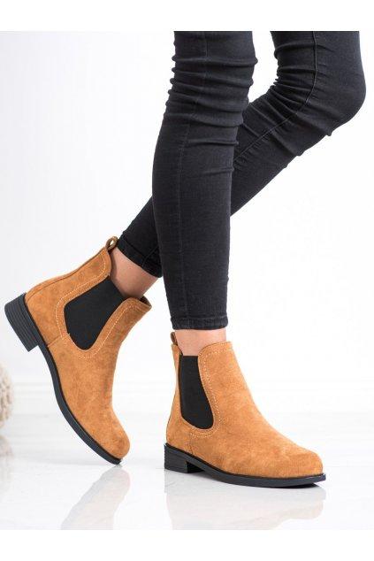 Hnedé dámske topánky Trendi kod MR-9C