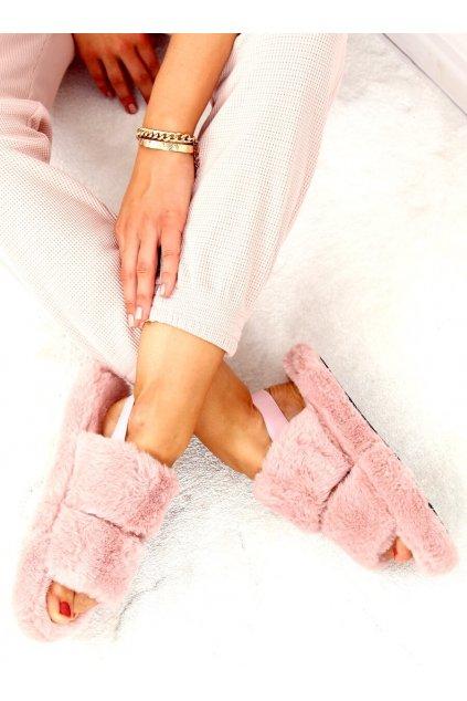 Damske ponožky ružové N-92