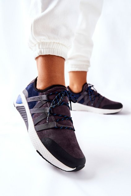 Dámske tenisky farba sivá kód obuvi II274309 NAVY