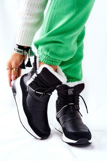 Dámske snehule farba čierna kód obuvi II274279 BLK
