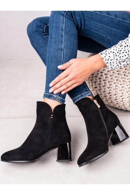Čierne dámske topánky Goodin kod GD-FL2034A/B