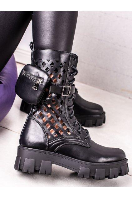 Čierne dámske topánky Sweet shoes kod D7755B