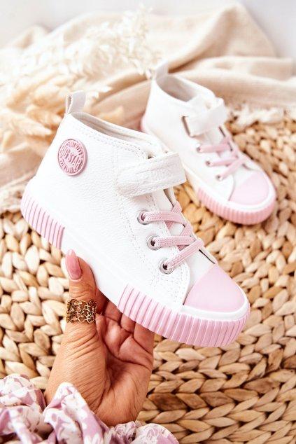 Detské tenisky farba biela kód obuvi II374014 WH/PINK