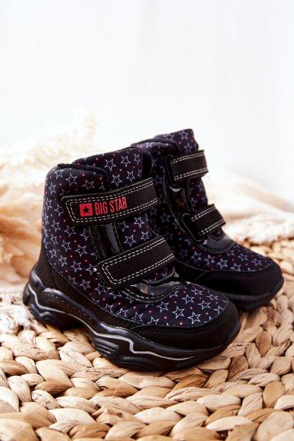Detské členkové topánky farba čierna kód obuvi II374091 BLACK