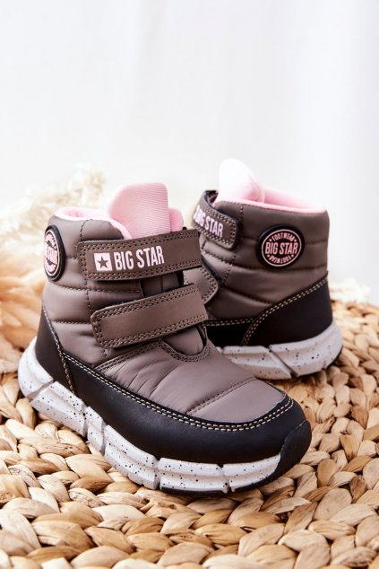 Detské členkové topánky farba čierna kód obuvi II374071 GREY