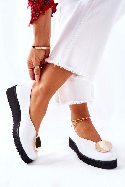 Dámske poltopánky farba biela kód obuvi 5315B-11 WHT