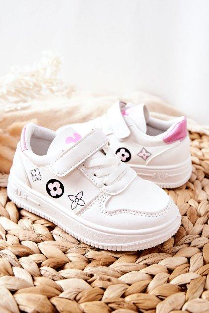 Detské tenisky farba ružová kód obuvi C-T9297-F WHI/PINK