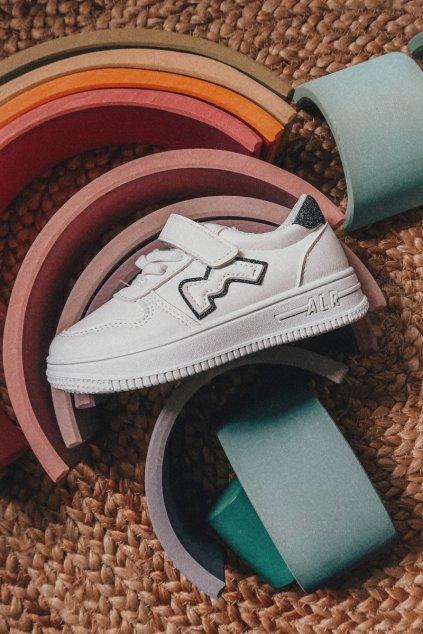 Detské tenisky farba čierna kód obuvi C-T9293-A WHI/BLK