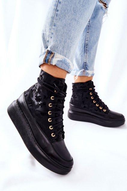 Dámske tenisky farba čierna kód obuvi 3034 CZAR MORO