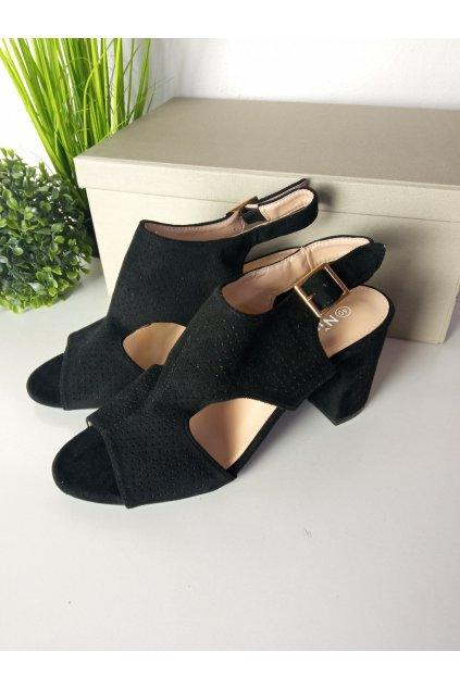 Čierne sandále NJSK 99-33A