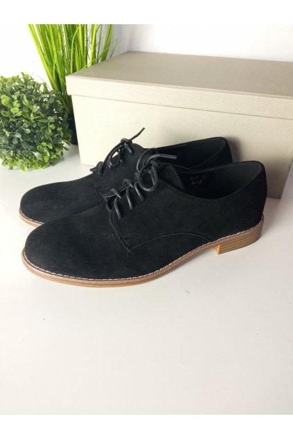Čierne topánky NJSK G325