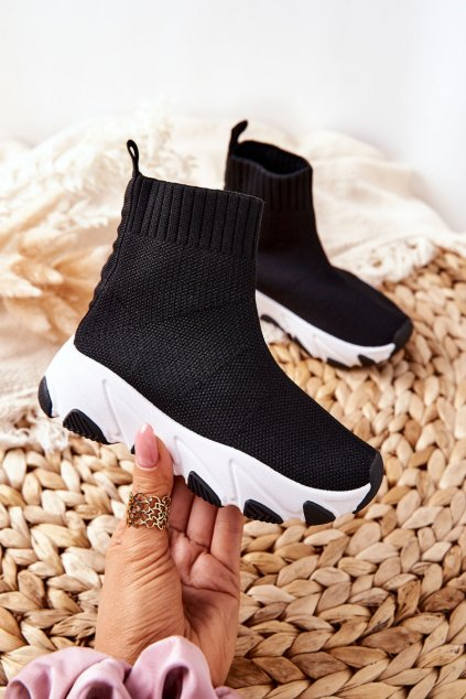 Detské tenisky farba čierna kód obuvi 818-A BLK