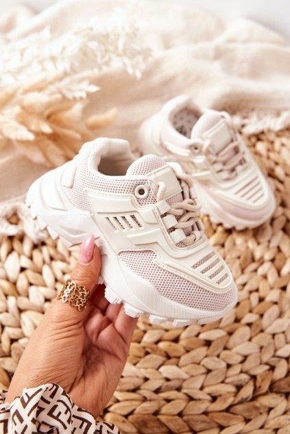 Detské tenisky farba hnedá kód obuvi 811-C BEIGE