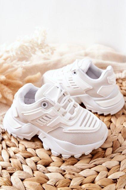 Detské tenisky farba biela kód obuvi 811-B WHITE