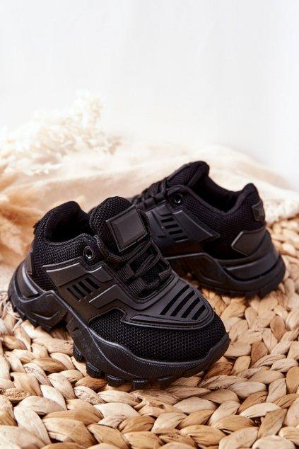 Detské tenisky farba čierna kód obuvi 811-A BLK