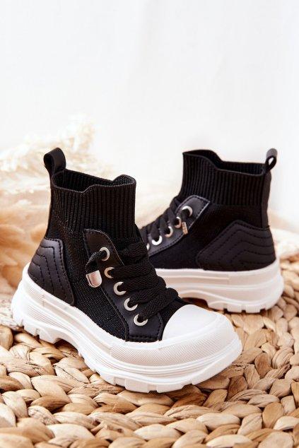 Detské tenisky farba čierna kód obuvi 825-A BLK