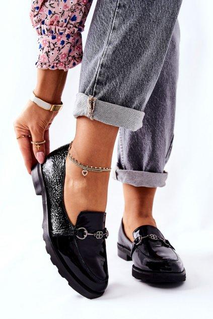 Dámske poltopánky farba čierna kód obuvi 2667 035 BLK