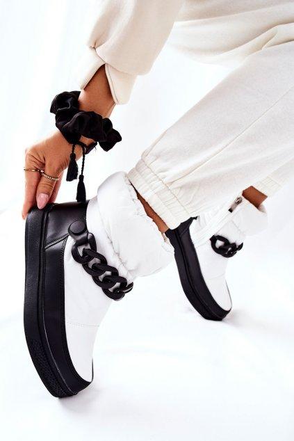 Dámske snehule farba biela kód obuvi WB-3558 WHITE