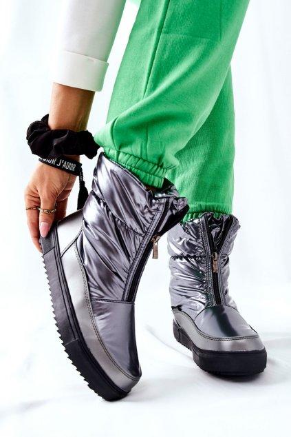 Dámske snehule farba sivá kód obuvi WB-4349A GREY