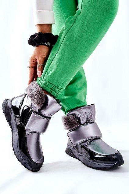 Dámske snehule farba sivá kód obuvi WB-4270 GREY