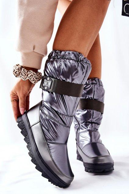 Dámske snehule farba sivá kód obuvi WB-4296 GREY