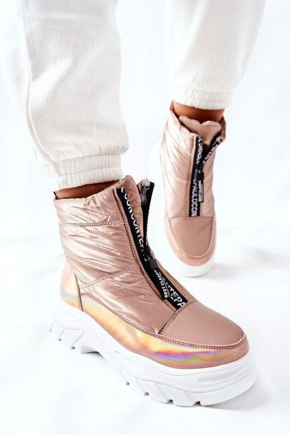 Členkové topánky na podpätku farba žltá kód obuvi 22-34519 GOLD