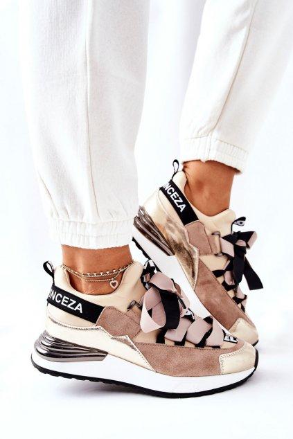Dámske tenisky farba hnedá kód obuvi 22-10658 BE