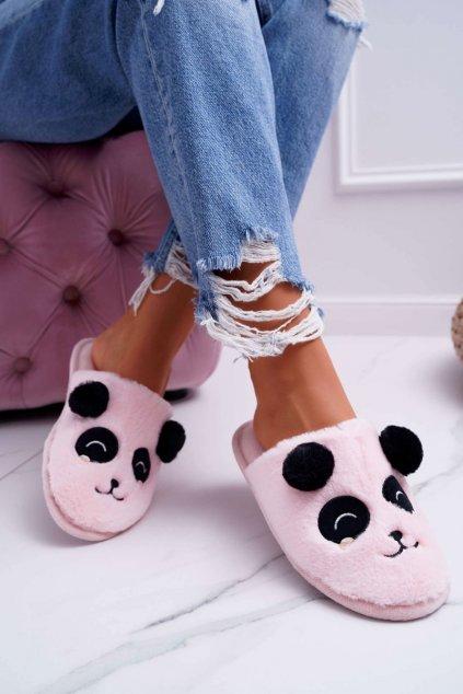 Dámske šľapky farba ružová kód obuvi KP03-3 PINK