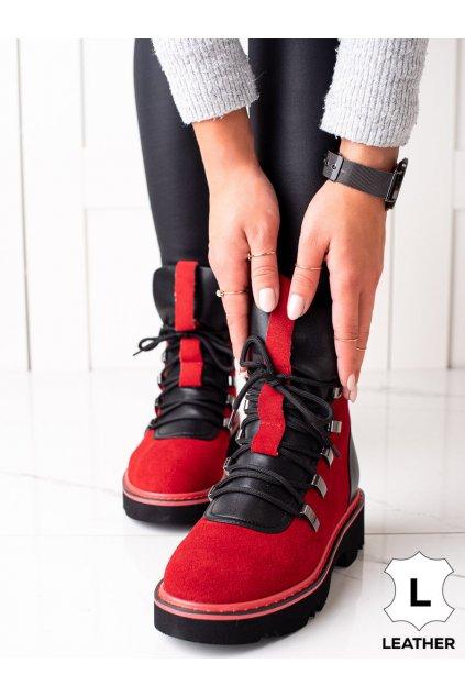 Červené dámske topánky Artiker kod 49C0313R/B