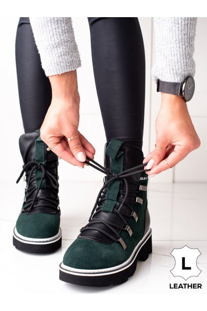 Zelené dámske topánky Artiker kod 49C0312GR/B