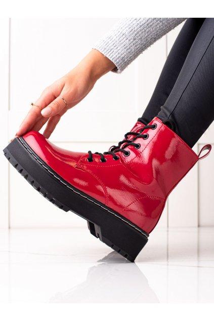 Červené dámske topánky Evento kod 21BT35-4237R