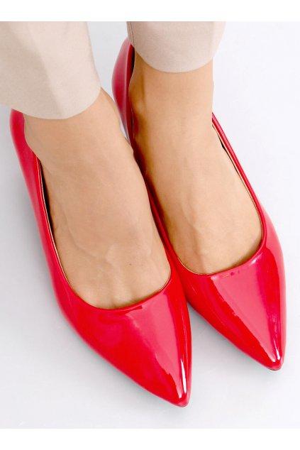 Damske lodičky červené na ihlovom podpätku 8F52