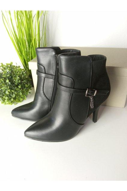 Čierne topánky NJSK 54455