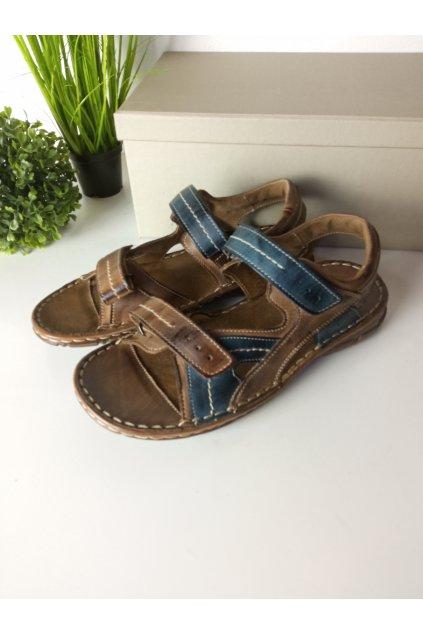Hnedé sandále NJSK 4962
