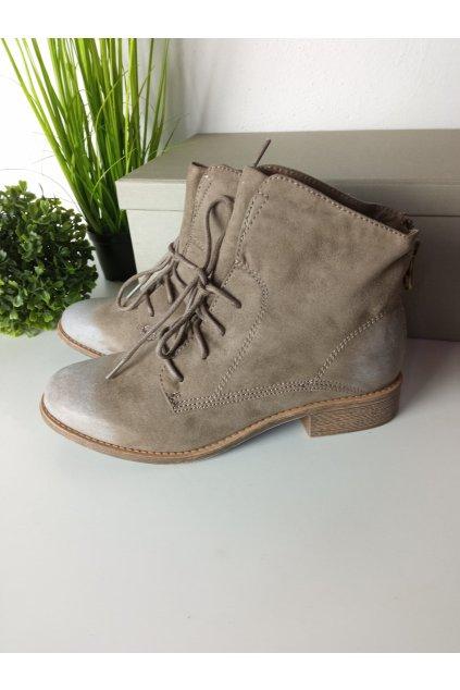 Hnedé topánky NJSK FY1229KH