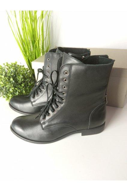 Čierne topánky NJSK 1019/15B