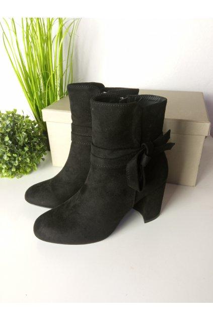 Čierne topánky NJSK OH064B