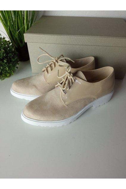 Béžové topánky NJSK 30626BE