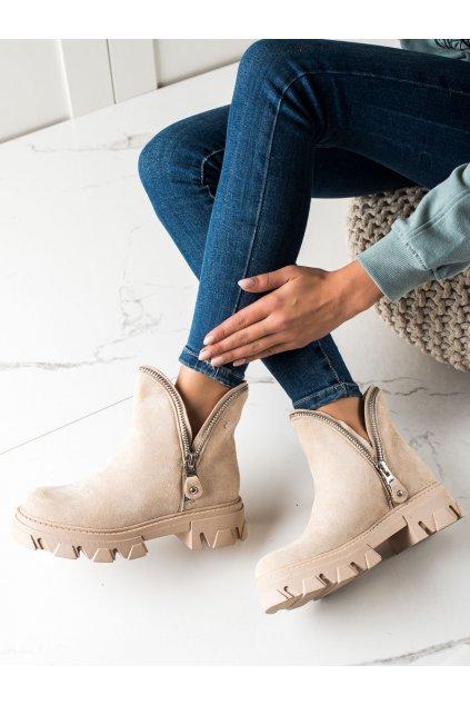 Hnedé dámske topánky Sweet shoes kod D7870BE