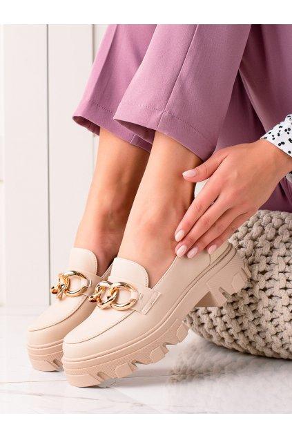 Hnedé dámske poltopánky Sweet shoes kod D7863BE