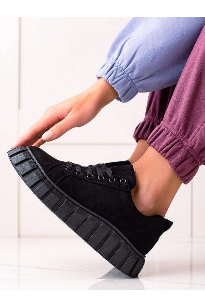 Čierne dámske tenisky Sweet shoes kod SX201B/B