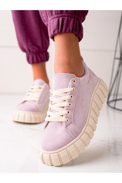Fialové dámske tenisky Sweet shoes kod SX201PU