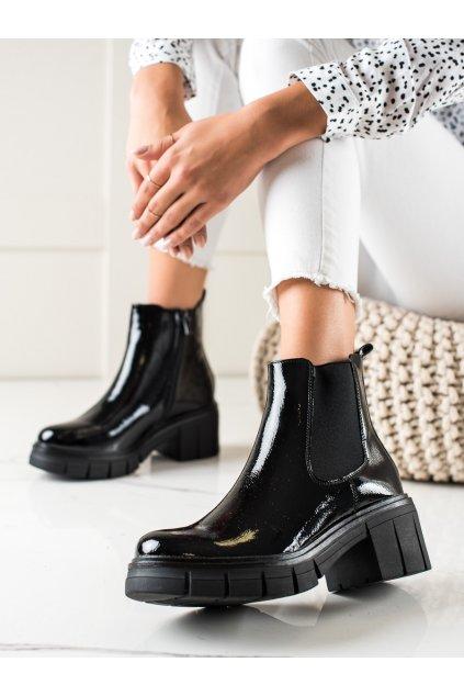 Čierne dámske topánky Filippo kod DBT3003B