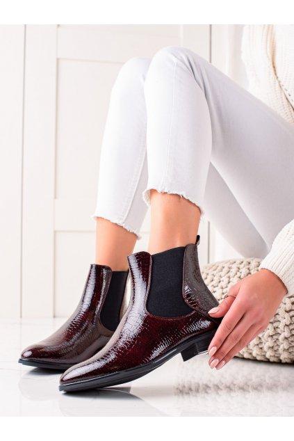 Červené dámske topánky Sergio leone kod BT523BOR