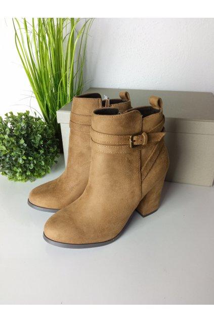 Hnedé topánky NJSK C6753C