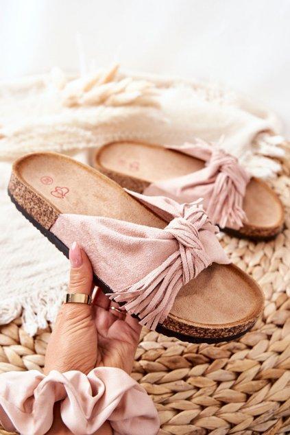 Dámske šľapky farba ružová kód obuvi 202-93 PINK