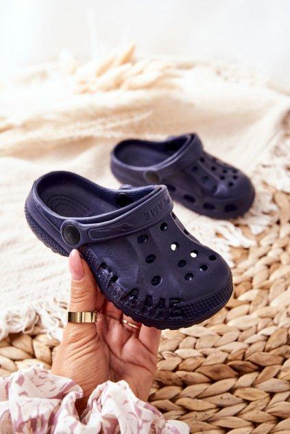Detské šľapky farba modrá kód obuvi Z-5001 NAVY
